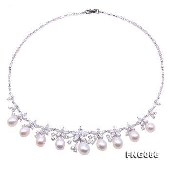 ce6eba6fe257 JYX gargantilla collar mujer barroco collar blanco Natural de agua dulce  cultivada perla 19