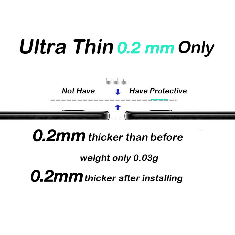 Akcoo 2 Pieces Camera Len Film for Huawei Mate 20 screen protector easy instal lens protector for huawei mate 20 pro lite X film 4