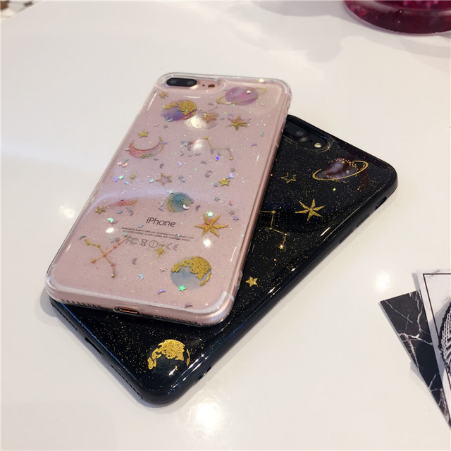 Star And Moon Glitter - Clear Transparent Case 5