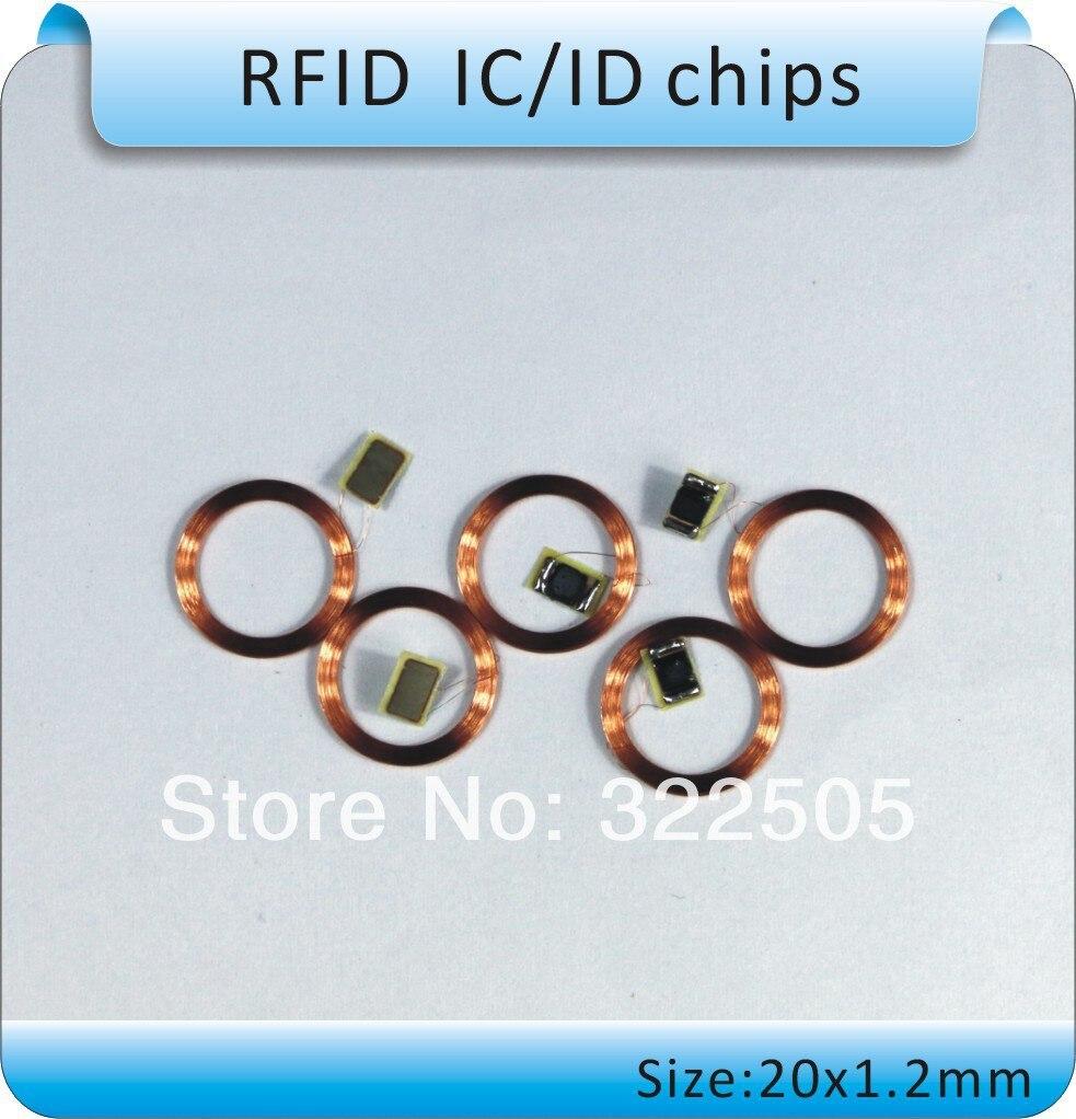 100pcs diameter 2.0cm EM4100 RFID transparent coin cards, RFID round coins, cards /125KHz frequency