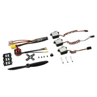 SonicModell 1806 KV2400 Brushless Motor Power Combo 30A ESC 8g Servo 5045 Propeller Spare Parts For Skyhunter RC Airplane