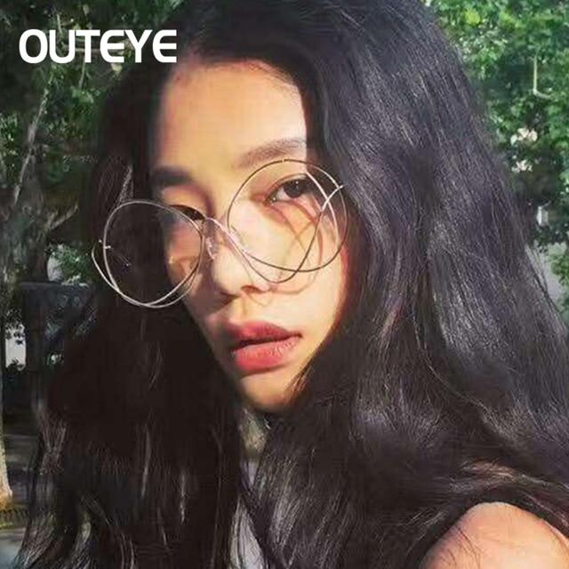 OUTEYE New Uique Sunglasses Women Eyeglasses Oversize Oval Rounded ...