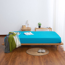 cotton bed sheets with elastic band mattress cover queen fitted sheet 180x200cm one piece free shipping