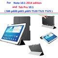 P600 p605 t520 t525 cubierta ultra delgada para samsung galaxy note 10.1 2014 edición/galaxy tab pro 10.1 smart cover case auto sleep