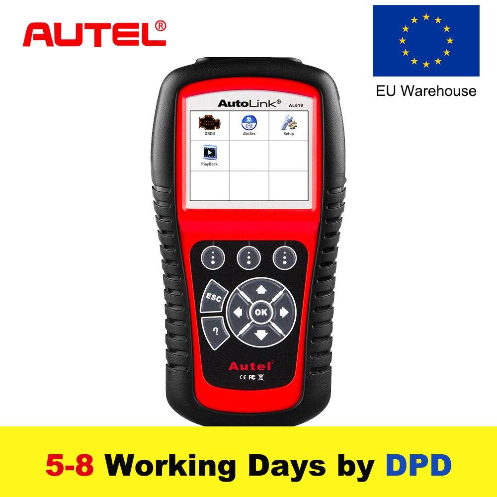 Autel AL619 Autolink ABS/SRS + PEUT OBD2 Outil D'analyse Mise À Jour En Ligne Autel AL619 OBDII Scanner De Lecteur de Code de Voiture scanner Automobile