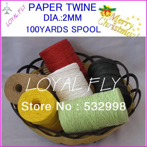 10 Farbe 20pcs / lot Bast-Band- / Papierschnur- / Papierschnur - - Partyartikel und Dekoration - Foto 3
