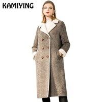 KAMIYIN 2018новый Стиль Женская одежда средней длины темперамент пальто утолщенные свободные большой код тепло женщин PKHD713