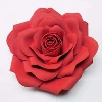 Big Size 30 cm Bruiloft decoratie Grote kunstbloemen Roze Wit Geel Handgemaakte Romantische Party papier bloem foam rozen