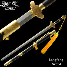Home Decoration Swords Handcrafted Damascus steel Hand-carved Ngok Naturally edge Exercise Taiji Sword Decorative Collectible