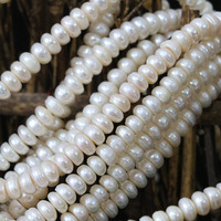 Fashion Diy Loose Jewelry Natural White Cultured Freshwater Pearl Beads Abacus Making 15inch B1347