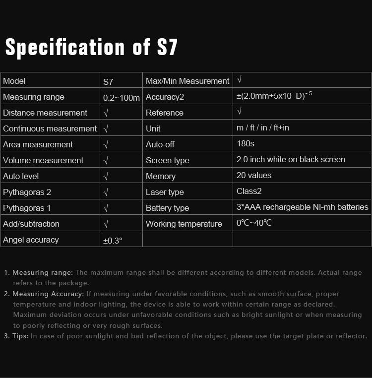 Mileseey S7 Laser rangefinder (7)