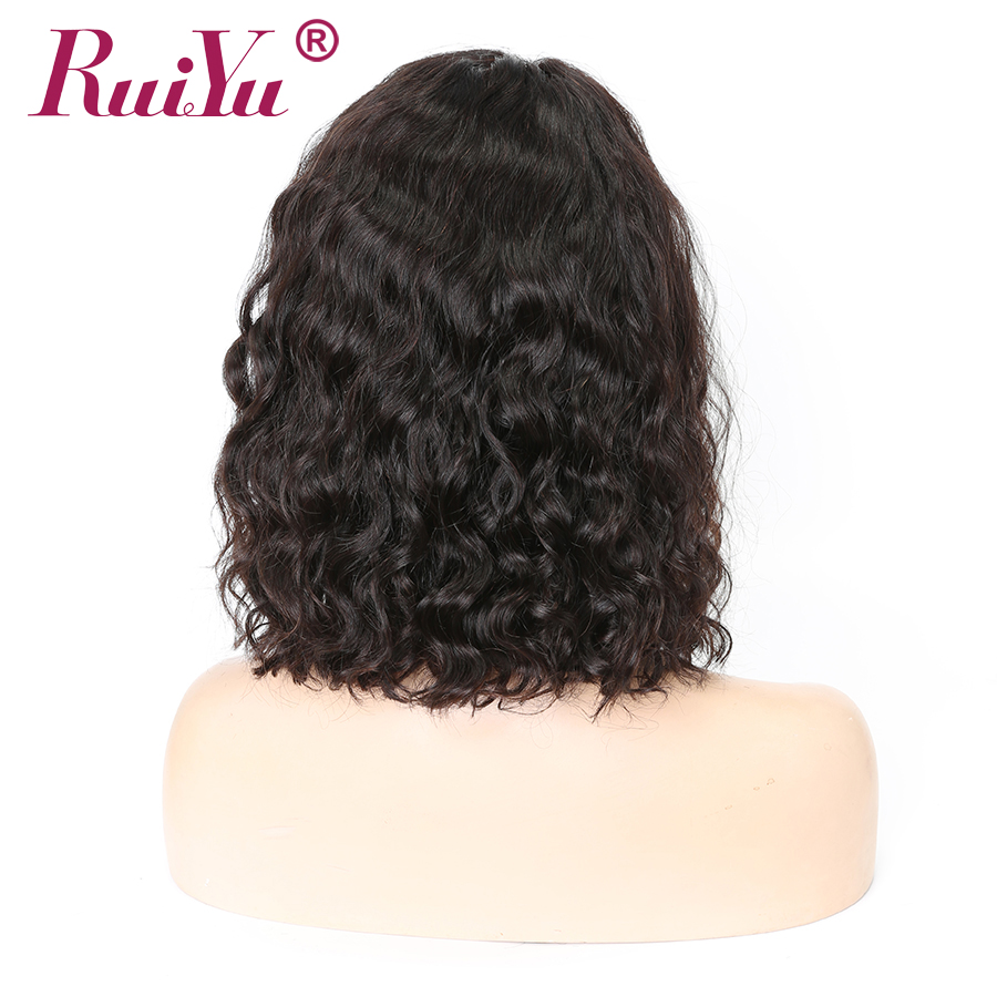 Curly Bob Wig 13x6 Lace Front Wigs Short Human Hair Wigs RUIYU Malaysian Remy Hair Pre