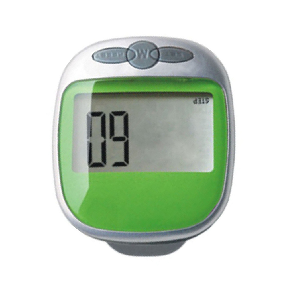Waterproof LCD ExeCuter Step Pedometer Walking Calorie Counter, Green