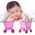 Bebé pretend play toys mini carro de compras supermercado llena de alimentos juguete playset 11.8 ''kids juguete para niños regalos de navidad