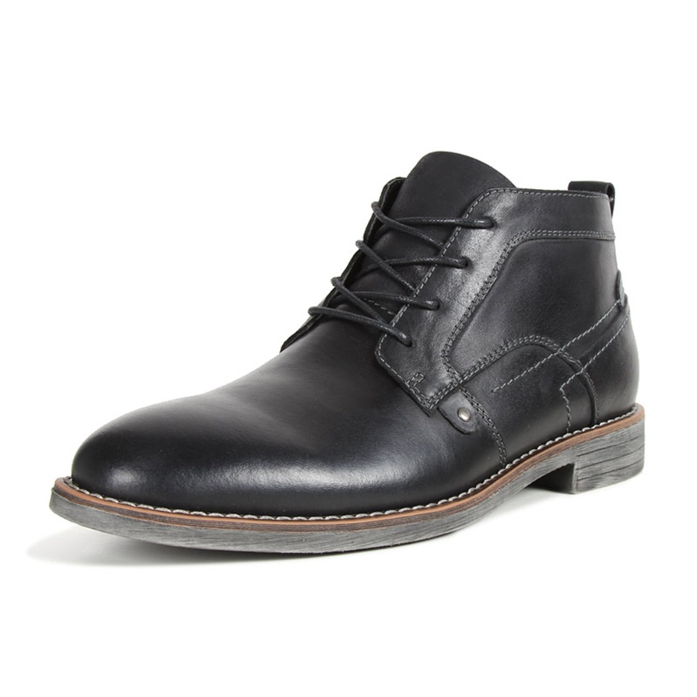 Primavera Boots Couro Do Up E Calçado Botas De Vintage outono yellow Genuína Homens Polido coffee Brown Sapatos Black Esfregou Ankle Lace Estilo Moda Britânico 8WxPnx