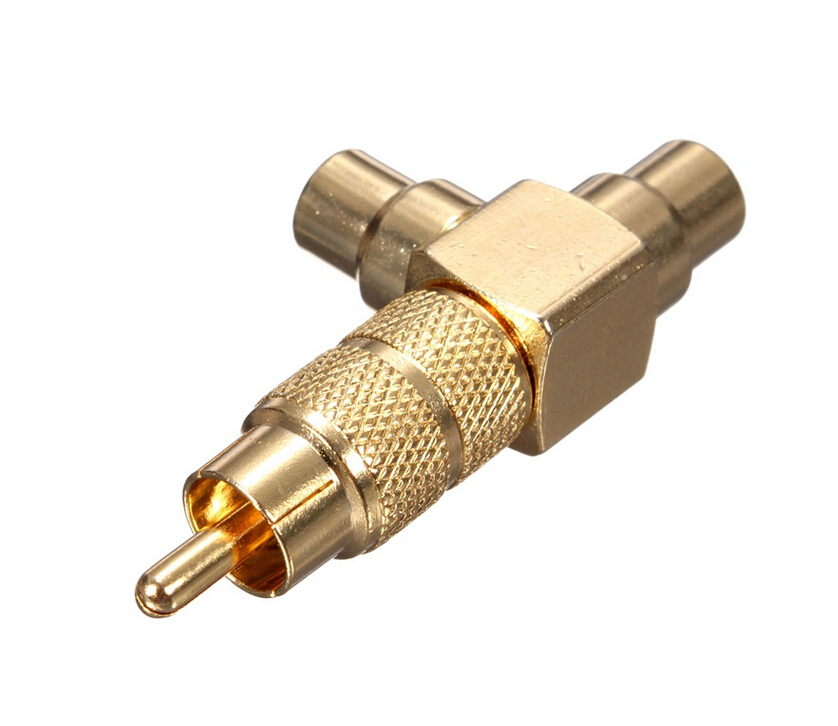 New Arrival High Quality Gold Plated Rca Phono Splitter 1