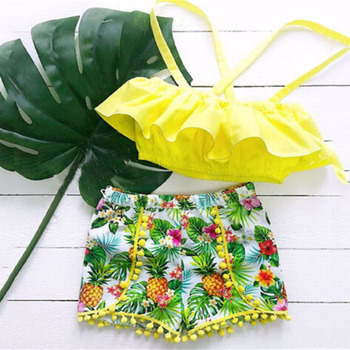 toddler baby girl kid outfit set tops t shirt tank floral skirt beach dress 1 5y Emmababy Fashion Leisure 2Pcs Toddler Kid Baby Girl Clothing Set Summer Sleeveless Ruffle T-Shirt Tops Floral Shorts Outfits Set