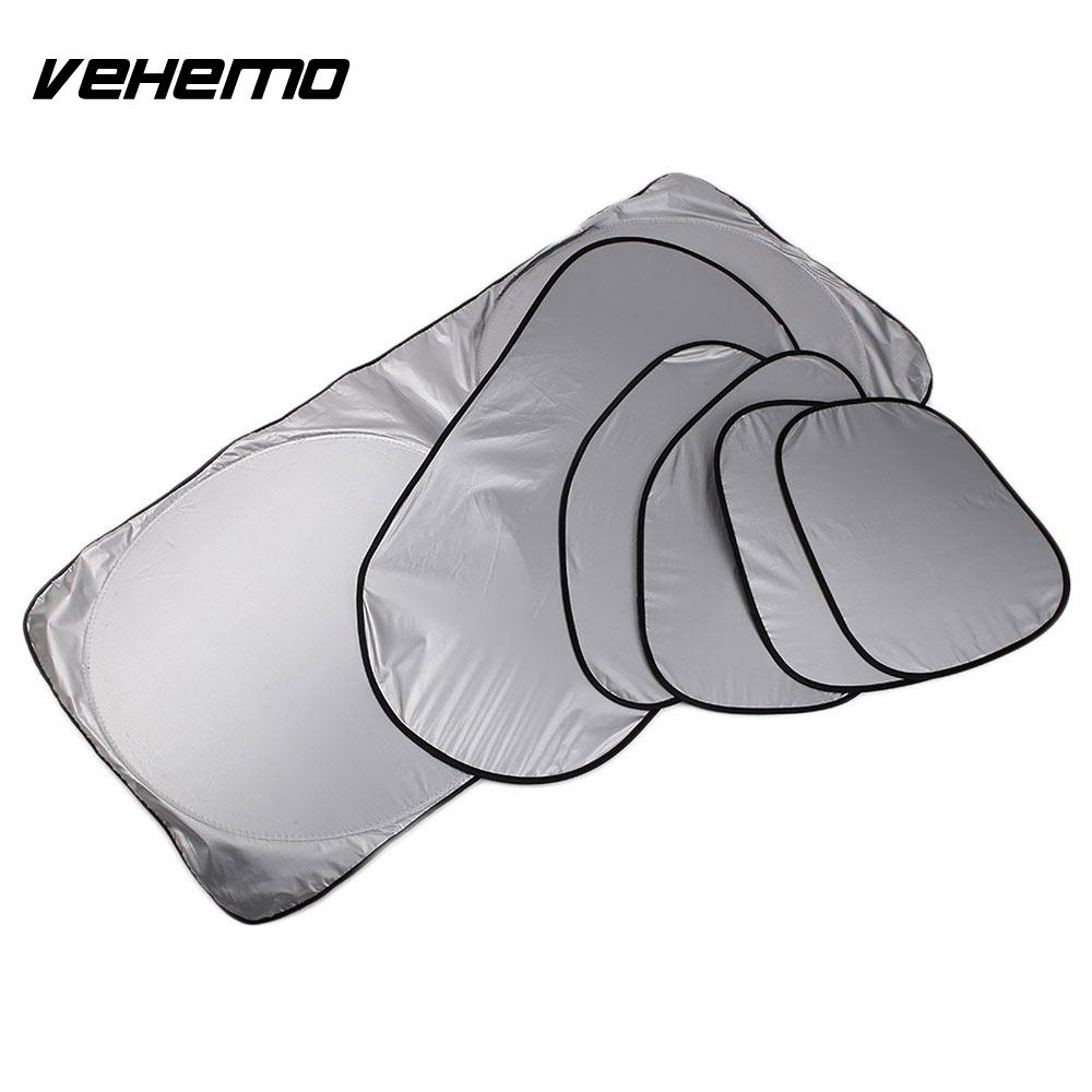 Vehemo 6pcs/Set Car SunShade Windshield Sunshade Truck Auto Sun Visor Durable Portable Window Covers