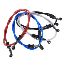 50cm-120cm Motorcycle brake Hose Braided Steel Brake Clutch Oil Hose Line Pipe Fit ATV Dirt Pit Bike Car-Styling 5 Color Hot(China)