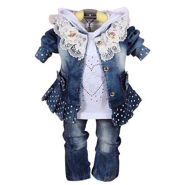 ba9f2f309a9f 3pcs Baby Clothing Set 1st Birthday Outfit Baby Cowboy Jacket+Pants+Polo  Shirt Twins Baby Clothes Infant Girl Pants-in Clothing Sets from Mother    Kids on ...
