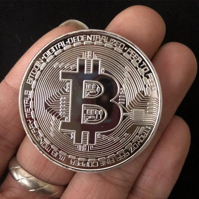 1PCS Creativo Souvenir Placcato Oro Bitcoin Moneta Da Collezione Grande Regalo Moneta Po 'Collezione D'arte Fisica Oro Moneta Commemorativa 3