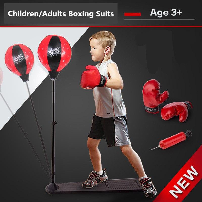 Vitesse verticale boxe sandbag balle Fitness ventilation décompression peut soulever adultes enfants gants de boxe adaptés enfants fitness jouet