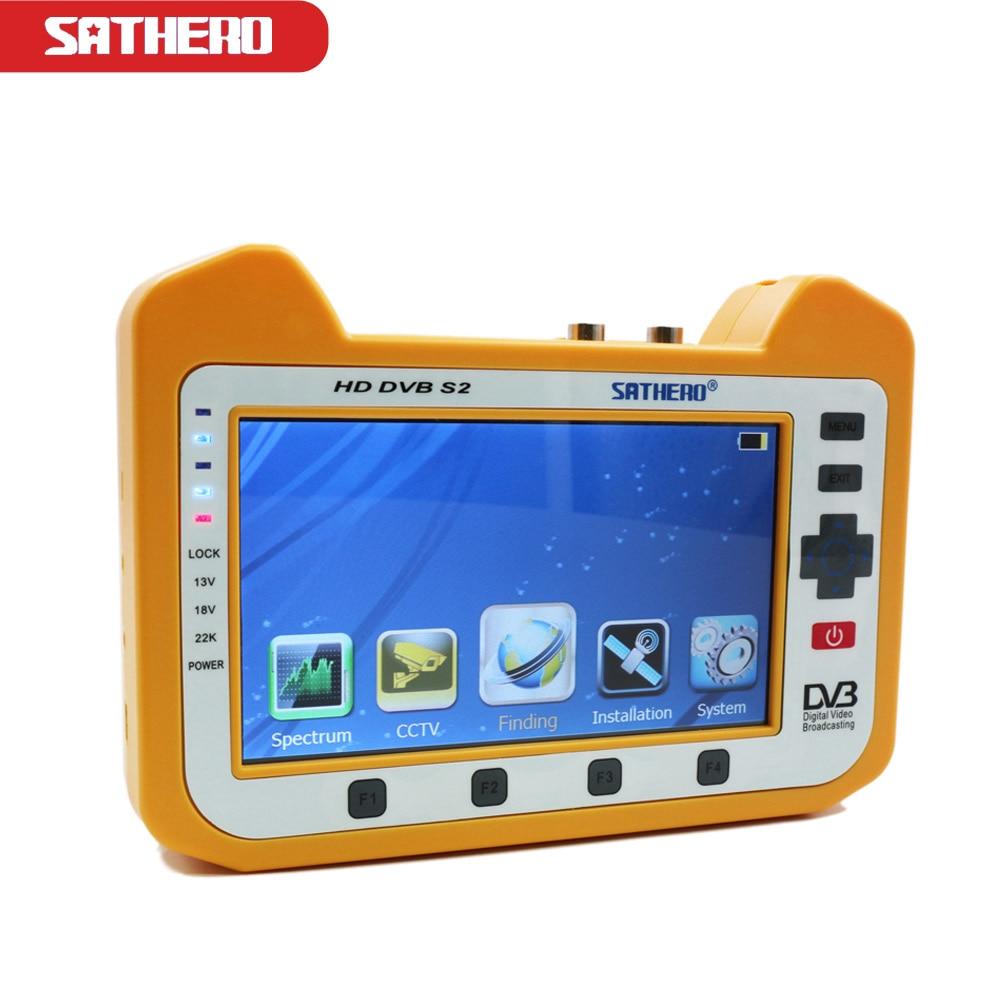 7inch Sathero SH-900HD DVB-S2 HD Digital Satellite Finder MPEG-4 CCTV Tester Meter AHD Full 1080P TV Signal Satfinder Meter