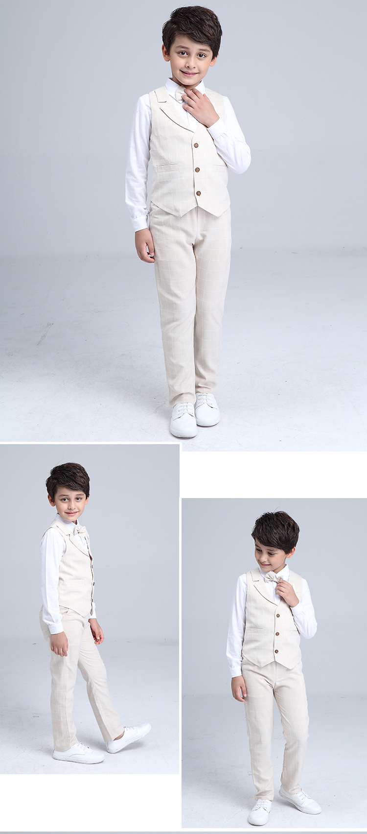 HTB1mBGxQXXXXXX.XVXXq6xXFXXXN - 2017 Boys Blazer Suit Kids Cotton Vest+Tie+Blouse+Pants 4 pieces/set Clothes Sets Boys Formal Blazers for Weddings Party EB156
