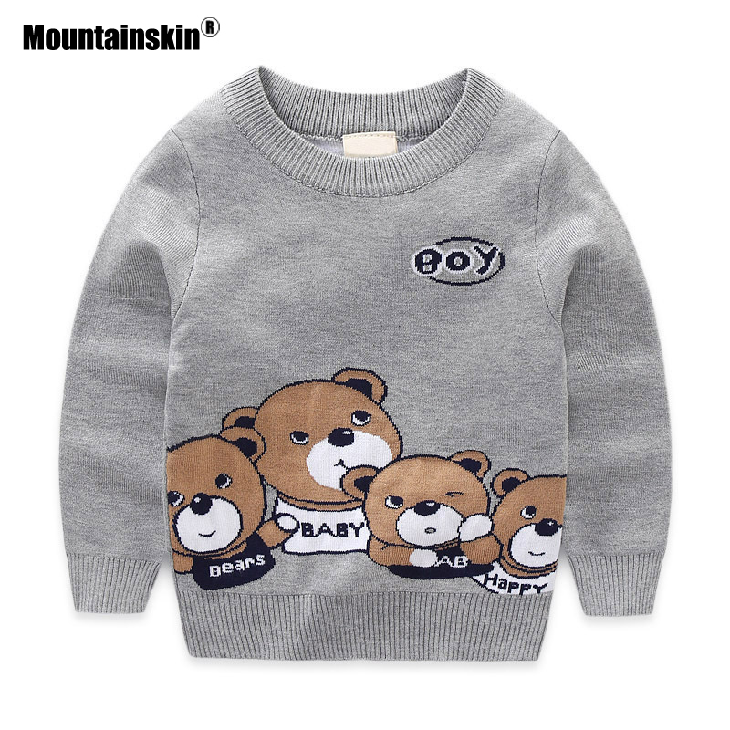 Mountainskin 2017 New Autumn Spring Boys Sweater Baby Boys Girls Pullover Cartoon Children's Sweater Cotton Kids Coat 2-8T SC878