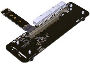 M.2 مفتاح M NVMe بطاقة الرسومات الخارجية حامل قوس مع PCIe3.0 x4 الناهض كابل 25 سنتيمتر 50 سنتيمتر 32Gbs ل ITX STX NUC VEGA64 GTX1080ti