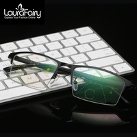 LF Fashion Photochromic Brown Gray Reading Glasses Progressive Multifocal Reading Eyeglass See Far See Near Reading Glass ZP035