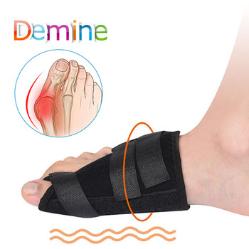 Demine Hallux Valgus Orthotic Pads Flexible Big Toes Bunion Separator Corrector Pre / Post Surgery Foot Care Orthopedic Inserts