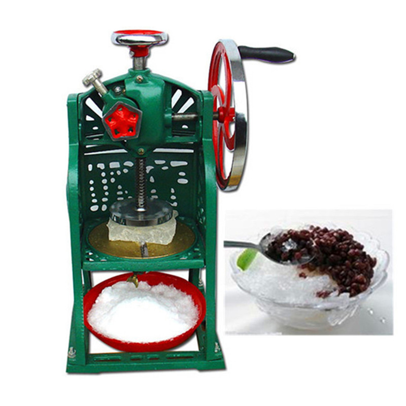 Commercial manual snow cone maker ice block crusher shaver jiqi electric ice crusher shaver snow cone ice block making machine household commercial ice slush sand maker ice tea shop eu us