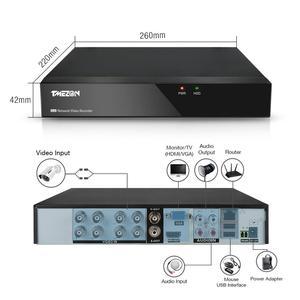 Image 5 - تيميزون 8CH نظام الدائرة التلفزيونية المغلقة 8 قطعة 720P في الهواء الطلق مانعة لتسرب الماء كاميرا الأمن 8CH 1080P DVR للرؤية الليلية عدة نظام مراقبة بالفيديو