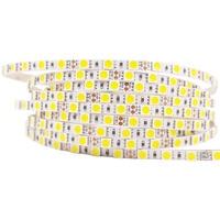 Süper Parlak WarmWhite Beyaz 5 m DC 12 V 5mm PCB LED şerit 5050 esnek Işık şerit 84 LED/M Led Bant Luces şerit