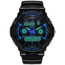 ZGO 2016 venta caliente de Los Hombres de Cuarzo Reloj de Los Hombres Relojes Deportivos Relogio masculino Relojes Militares LED Digital Relojes A Prueba de agua 507