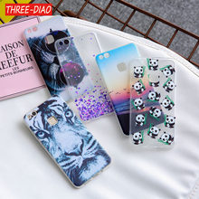 THREE-DIAO Soft TPU Case For Huawei Mate 10 P10 P9 P8 Lite 2017 Transparent Slim Pattern Cover For Huawei Honor 7X 6X 7 8 Cases(China)