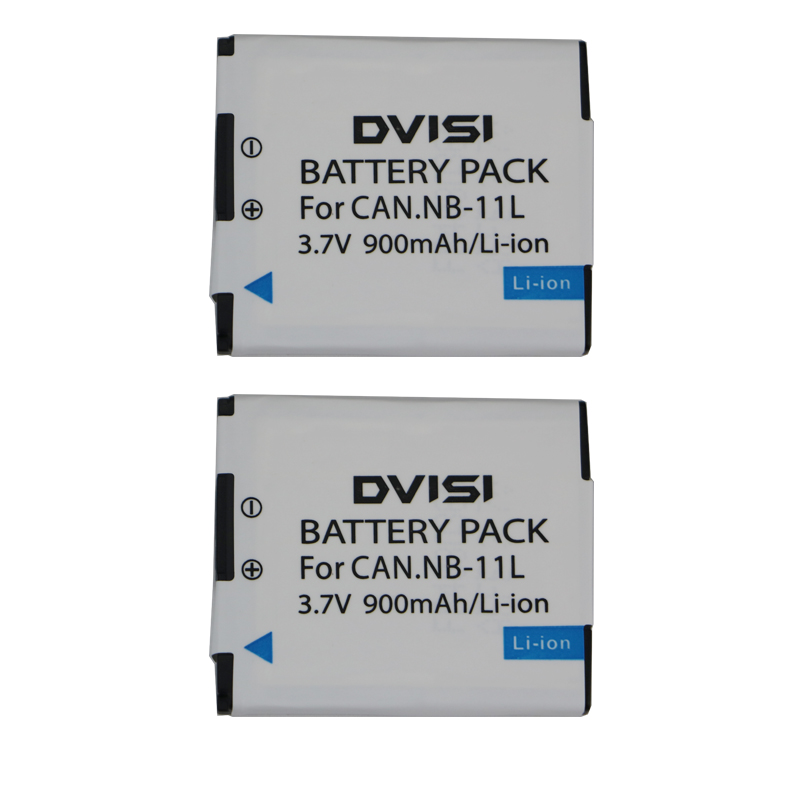 2 Pcs/lot  DVISI NB-11L NB-11LH Battery For Canon PowerShot A2300 IS, A2400 IS, A2500, A2600, A3400 IS, A3500 IS, ELPH 110 HS