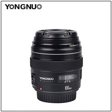YONGNUO 100MM F2 Lens Large Aperture AF/MF Medium Telephoto Prime Lente Macro YN100mm for Canon EF Mount 5D 5D IV 1300D T6 760D