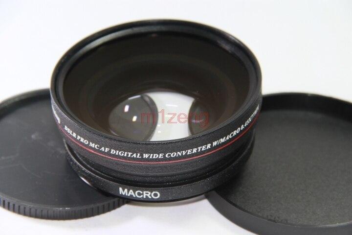 Grand Angle 0.45x77mm avec objectif de Conversion Macro pour canon 77mm nikon pentax fuji olympus noir