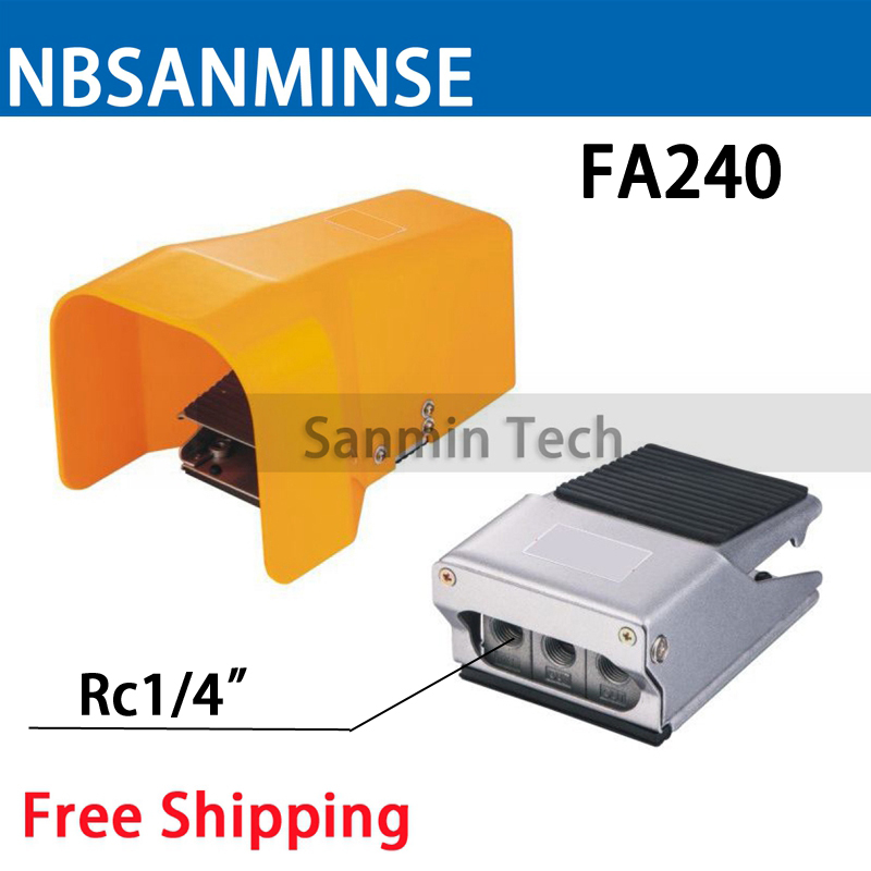 Free Shipping FA 2 Way 4 Position Pneumatic Mechanical Valve 1/4 Pneumatic Foot Pedal Pedal Valve Standard Foot Valve NBSANMINSE