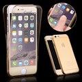 Para iphone 7 moda 360 frente + voltar completa cobertura tpu claro transparente tampa caixa do telefone para iphone 7 plus hu924