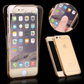 Para iphone 7 moda 360 front + back full cobertura transparente clear tpu cubierta de la caja del teléfono para iphone 7 plus hu924