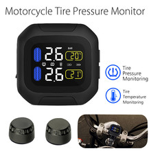 M3 Wireless Waterproof TPMS LCD Motorcycle Real Time Tyre Pressure Monitoring System With External Tire Pressure Sensors waterproof motorcycle tire pressure monitoring system tpms wireless lcd display internal or external th wi sensors