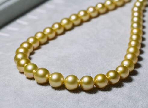 elegant round south sea 9-10 mm gold white silver grey pearl necklace 18inch 14elegant round south sea 9-10 mm gold white silver grey pearl necklace 18inch 14