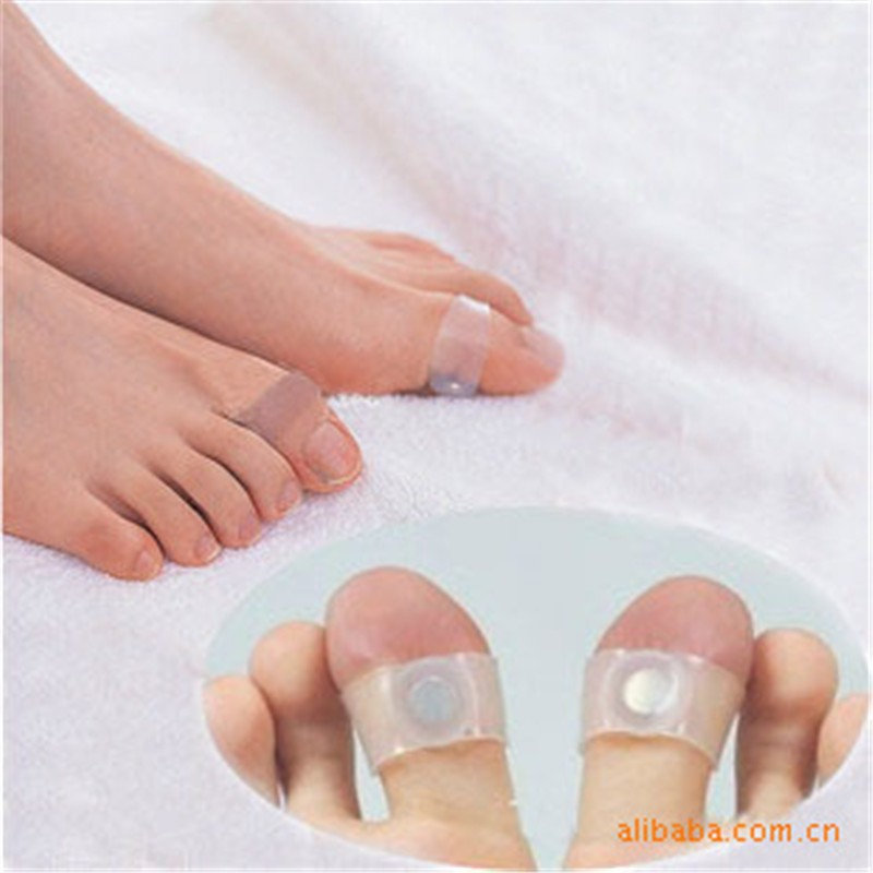 1Pair=2Pcs Weight Loss Magnetic Silicone Foot Care Diet Foot Massager Double Toe Rings Slimming Ring Feet Loss Weight Reduce