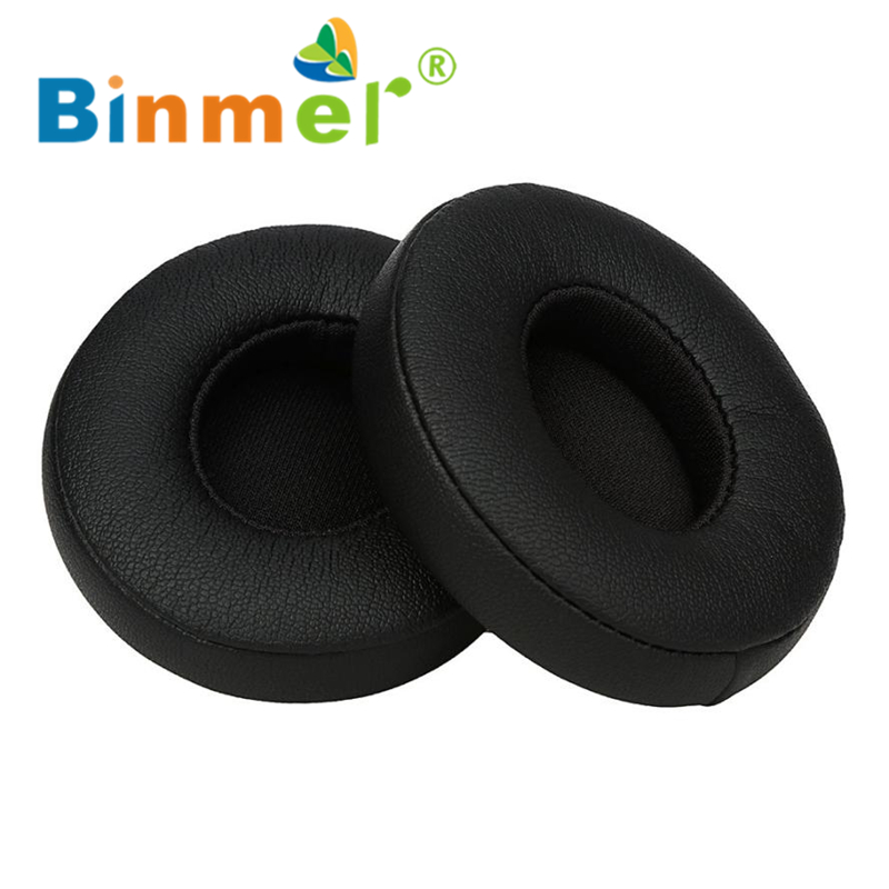 1 Pair Protein Leather Replacement Ear Pads for Monster Beats for SOLO 2.0_KXL0630