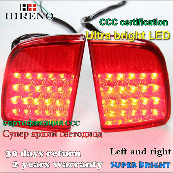 Hireno for toyota LAND CRUISER LC200 FJ200 5700 4700 lexus LX570 LED Externa taillights rear bumper fog lights lamp assembly smarty для toyota lc 200