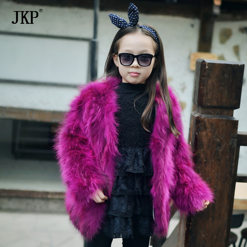 Children fur Coat Kids Real Raccoon Fur Coat Winter Grils Warm Thick High-quality Baby Fur jacket 5 colors 2017 new long fur coat parka winter jacket women corduroy big real raccoon fur collar warm natural fox fur liner