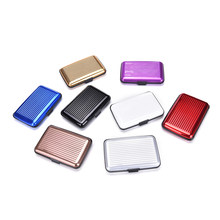 1PCS Metal Wallet Men Business ID Credit Card Holder Suitcase Name Card Holder Box Case Organizer 7.5*11*2.5cm(China)